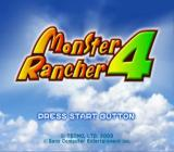 Monster Rancher 4 PlayStation 2 Main title.