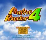 Monster Rancher 4 PlayStation 2 Main menu.