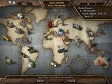 Amazing Adventures: Around the World Windows The Unlimited Seek & Find mode shows all locations and the number of hidden objects each contains. The player can search any location for all objects.