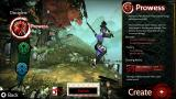 Akaneiro: Demon Hunters Browser A view on the game's three classes: Prowess...