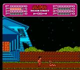 A Nightmare on Elm Street NES In game play screen shot.