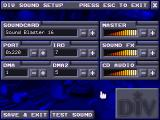 Tank2 DOS Sound setup - various sound cards are detected by the installer.