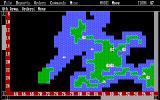 Empire: Wargame of the Century DOS Playing on a random map