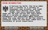 Spear Resurrection Windows Background story, from the 68-page in-game manual