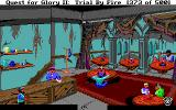 Quest for Glory II: Trial by Fire DOS Blue Parrot Inn at night