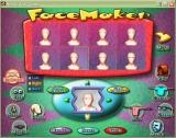 Hoyle Kids Games Windows The FaceMaker screen. It is quite comprehensive, here it's being used to position right and left eyebrows which are of different sizes and styles