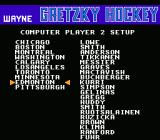 Wayne Gretzky Hockey NES Real players from 1991