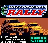 International Rally Game Boy Color Title screen