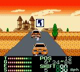 International Rally Game Boy Color Opponent on road