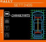 International Rally Game Boy Color Change parts