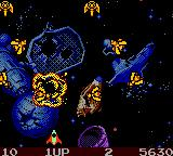 Galaga: Destination Earth Game Boy Color Break the circle