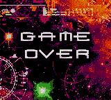 Galaga: Destination Earth Game Boy Color Game Over