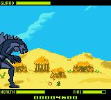 Godzilla: The Series - Monster Wars Game Boy Color Single enemy with bazooka