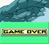 Godzilla: The Series - Monster Wars Game Boy Color Game over