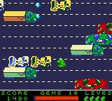 Frogger 2 Game Boy Color In traffic hour....