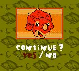 The Land Before Time Game Boy Color Continue?