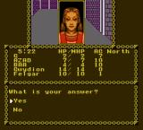 Pool of Radiance NES C) I forgot question