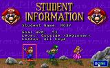 Mario Teaches Typing DOS Student information (EGA, Tandy)
