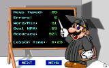 Mario Teaches Typing DOS Mario reviews your performance (EGA, Tandy)