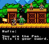 Hook Game Gear Rufio acknowledges we're Peter Pan