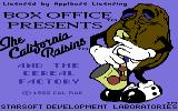 The California Raisins Commodore 64 Title screen