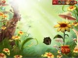 McDonald's Fairies and Dragons: Sunflower Windows When the game starts the menu bar appears at the top right. The player clicks on one of the fairies they have collected then plants the appropriate seed to access the games
