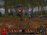 Heroes of Might and Magic V: Tribes of the East Windows Classic slash in head. Old but funny.
