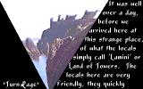 Towers: Lord Baniff's Deceit DOS Part of the Intro