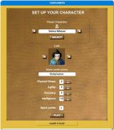 Caravaneer Browser Character creation.