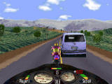 Road Rash Windows Car on road is only obstacle