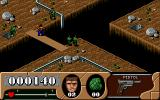 Arnie Savage: Combat Commando DOS Enemy appears from the hole