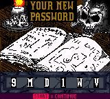 Buffy the Vampire Slayer Game Boy Color Password system