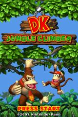 DK: Jungle Climber Nintendo DS Title screen