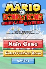Mario vs. Donkey Kong: Mini-Land Mayhem! Nintendo DS Title screen