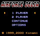 AirForce Delta Game Boy Color Select mode