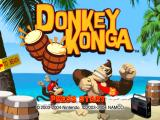 Donkey Konga GameCube Title screen