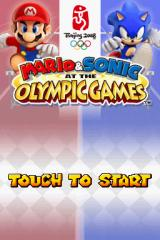 Mario & Sonic at the Olympic Games Nintendo DS Title screen