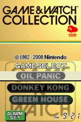 Game & Watch Collection Nintendo DS Title screen