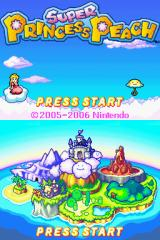 Super Princess Peach Nintendo DS Title screen (day)
