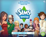 The Sims Social Browser Loading screen.