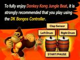 Donkey Kong: Jungle Beat GameCube Controller suggestion screen