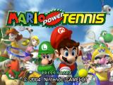 Mario Power Tennis GameCube Title screen