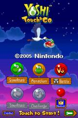 Yoshi Touch & Go Nintendo DS Title screen
