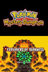Pokémon Mystery Dungeon: Explorers of Darkness Nintendo DS Title screen