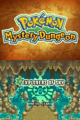 Pokémon: Mystery Dungeon - Explorers of Sky Nintendo DS Title screen