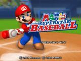Mario Superstar Baseball GameCube Title screen