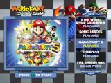 Mario Kart: Double Dash!! (Special Edition) GameCube Bonus disc's main menu.