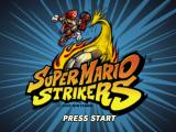 Super Mario Strikers GameCube Title screen