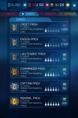 Star Trek: Rivals iPhone Options for buying new card packs