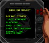 Jurassic Park Part 2: The Chaos Continues SNES The nifty mission selector.
